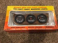 NOS Vintage RAC triple gauge set original 60s-70s era gauges hot rod muscle car