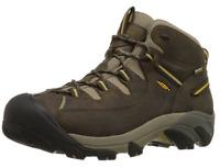 KEEN Mens Targhee II Mid WP Hiking Shoe Black Olive/Yellow-1002375-Pick Size NIB