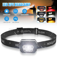 LED Extra Bright Torch Head Light USB Rechargeable Lamp Fish Vision Expansio