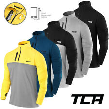 Men's TCA Fusion Soft QuickDry Long Sleeve Half-Zip Running Top Jacket Jersey