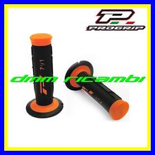Manopole Cross PROGRIP 791 Moto Scooter Mini Pit-Bike Enduro Motard Arancio Fluo