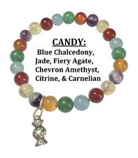 Candy:Carnelian, Agate, Jade, Citrine, Chalcedony, Chevron Amethyst Bracelet