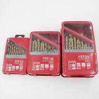 Metal Drilling Titanium Coated Drill Bit Set | High Speed Steel W/ Storage Case