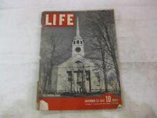 Life Magazine November 23rd 1942 The Puritan Spirit Cover Publisher Time   mg291