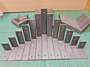 2 x Heavy Duty Solid Steel 90 Degree Angle 'L' Brackets Industrial Rustic Shelf