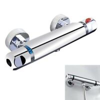 Chrome Thermostatic Bar Shower Mixer Valve Anti Scald Tap P1C7