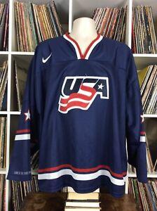 Nike 2011 USA IIHF World Juniors Championship Hockey Jersey Blue XXL