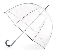 Totes Clear Bubble Dome Umbrella Transparent Fashion Large Windproof Rain Auto