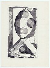 EDWARD BAWDEN VINTAGE 1937 SCARCE ABSTRACT ENGRAVING