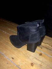 Topshop Block Patternless Suede Boots for Women
