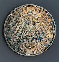 German States PRUSSIA 3 Mark 1910 A   KM# 527   gVF