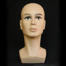 Polyethylene Male Mannequin Head Hat Display Mannequin Head Dummy Wig Stand