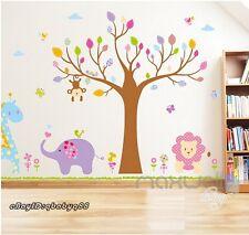 Jungle Safari Monkey Tree Wall Decals Removable sticker kids nursery Party Decor