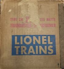 LIONEL ZW 275 WATT TRANSFORMER BOX ONLY