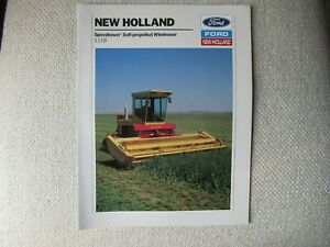1989 Ford New Holland 1118 speedrower windrower brochure