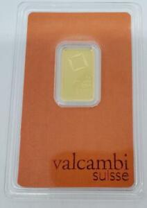 Valcambi 5 Gram .9999 GOLD Bar sealed .1607AGW L9769