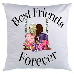 Best Friends Forever on a swing printed cushion gift