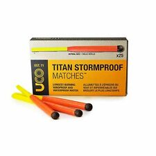 Titan Stormproof Matches 25 Windproof Waterproof Matches two Strikers Lot of 20