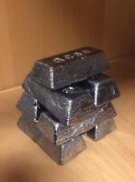 3,51 kg Bleibarren aus Bleischrott (Schlackefrei) Angelblei Tauchblei