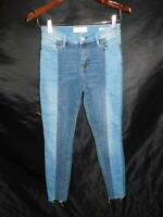 Pacsun Size 24 High Rise Ankle Jegging Blue Jeans Patchwork Denim Raw Hem W24