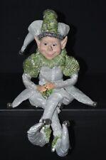Elf Doll - Green & Silver