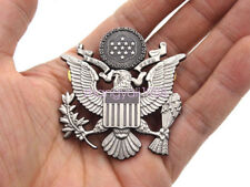 """Military WW2 US Army Officer Cap Hat Eagle Badge Pin Insignia Grey 2.2"""" * 2.2"""""""