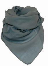 Halstuch Tuch Cotton Baumwolle uni einfarbig GRAU  ca 95 x 95 cm