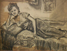 1943 Harry Lampert Drawing Golden Age Flash Betty Boop DC Comic Cartoon Artist