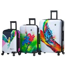 Mia Toro ITALY Artistic Design Hardside Spinner Luggage 3PC with10-Year Warranty