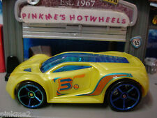 2012 Hot Wheels ULTRA RAGE✰Yellow w/Blue oh5; 3✰NEW Loose Multi Pack Design Ex