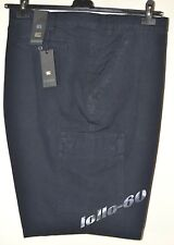 Bermuda uomo taglie forti con tasconi taglia 73 blu Pantalone corto telacanvas