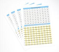 BINGO Calling Cards FOGLI NUMERI 1-90 DO IT YOURSELF confezione da 10 CHIAMATE