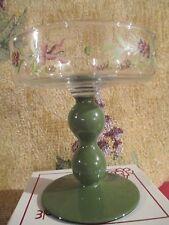 "Royal Albert "" Winter Festival"" Glass Pedestal Column Candle Holder"