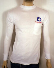 vtg 80s Nos Mint white Long Sleeve Royal American T-Shirt Soft Thin sz S
