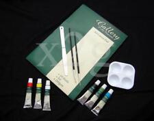 Oil Painting Set - Canvas Pad, Knife, 6 Paints, 2 Brush