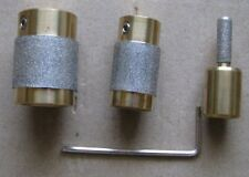 3 STAINED GLASS GRINDER BIT HEAD 4 INLAND OR GLASTAR TOP QUALITY BRASS 3 SIZES!