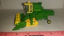 1/64 CUSTOM JOHN DEERE 95 COMBINE clear cab w/ tracks & bean head ERTL farm toy