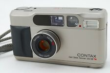 [As is]Contax T2 w/ Genuine box & Data Back from Japan #134-11492