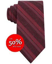 Risparmia il 50%! Calvin Klein acciaio EDIZIONE k7954490 Doppia Striscia Skinny Cravatta Di Seta Rosso