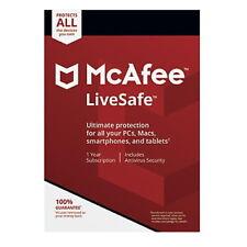 Antivirus Mcafee Livesafe 2018 Licencia Multidispositivos 1 año Version Digital