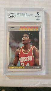 1987 88 Fleer #80 Hakeem Akeem Olajuwon Houston Rockets Hall of Fame BCCG 8