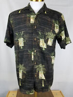 Joe Marlin Mens Hawaiian Aloha Button Lg Short Sleeve Shirt Posta Tropica 24 EUC