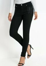 Neues AngebotBodyflirt @ Kaleidoscope Gr 12 Schwarz Nieten Skinny Jeans
