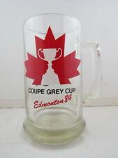 1984 Grey Cup Beer Mug - Maple Leaf Graphic - Edmonton 1984