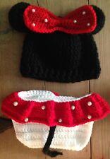 Disfraz Minnie Bebe Crochet Recién Nacido Fotos Nuevo Algodón Conjunto