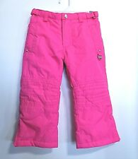 Toddler Girls Pink Ski Snow Pants Size 2T Rhinestone Studs On Front Pockets