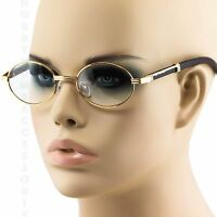 CLASSICVINTAGE RETRO Style Clear Lens EYE GLASSES Wood Buffs Gold Fashion Frame