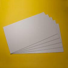 5 Polystyrol platten WEISS 295x200x2mm mit beidseitiger Schutzfolie