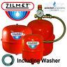 ZILMET ITALY RED CENTRAL HEATING EXPANSION VESSEL 8 12 18 24 LTR + KIT / BRACKET