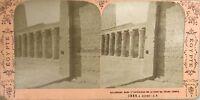 Egitto Grand Tempio di edfu Fotografia Jean Andrieu Stereo Vintage Albumina